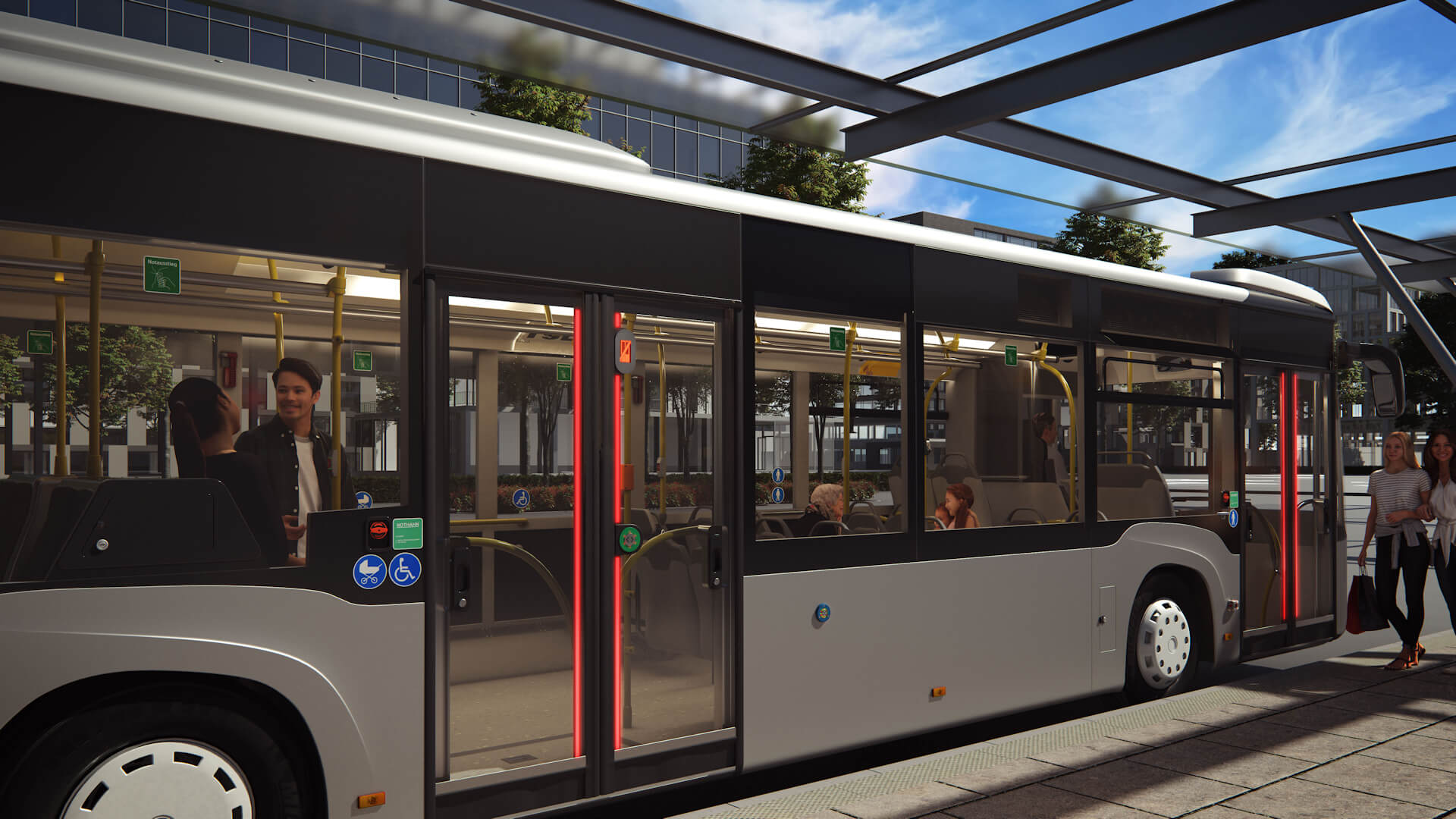 Anwendungsbereich Bus Türeinstieg aussen