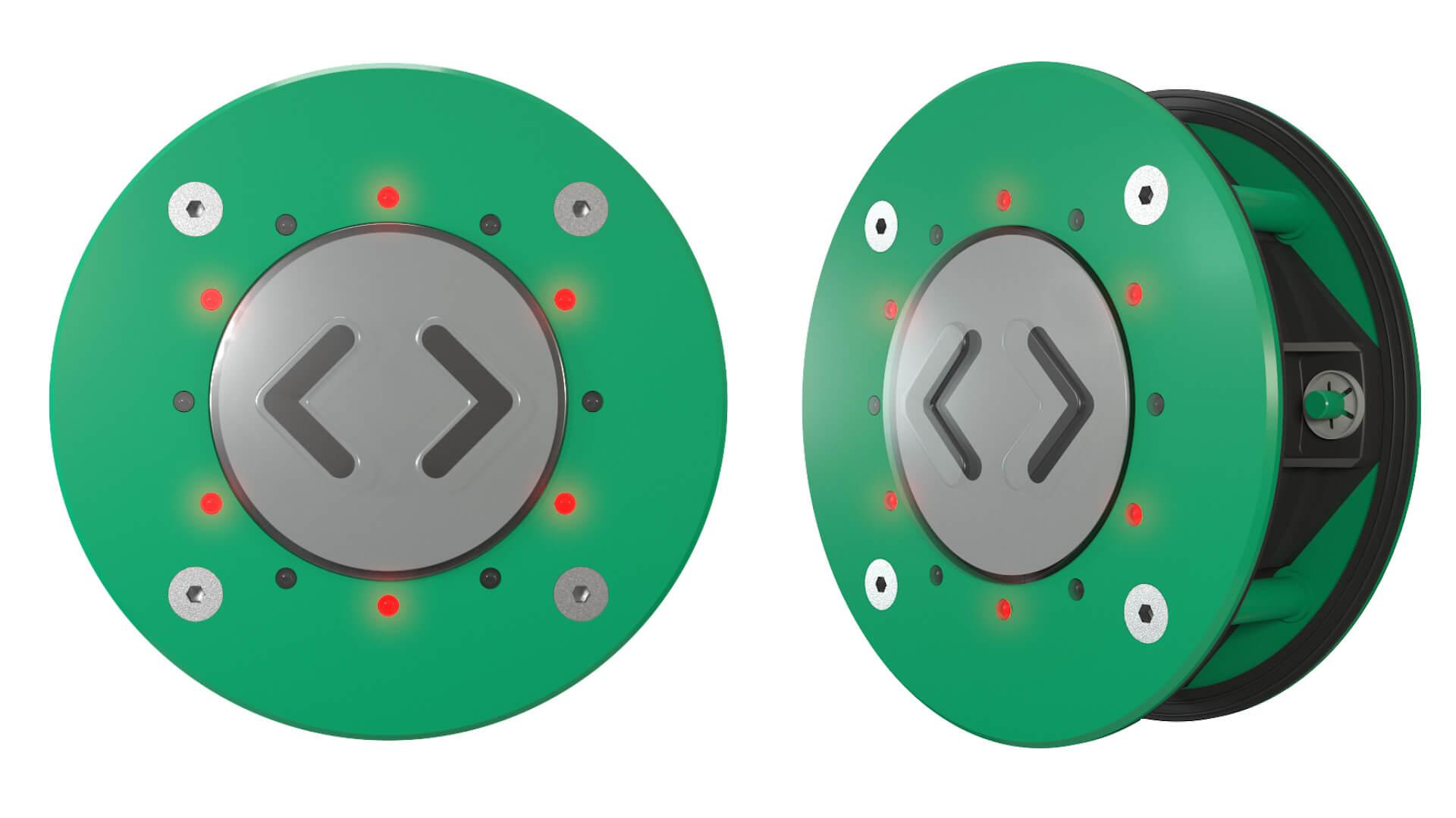 CK72-1 Türöffnungstaster TSL doppelseitig grün