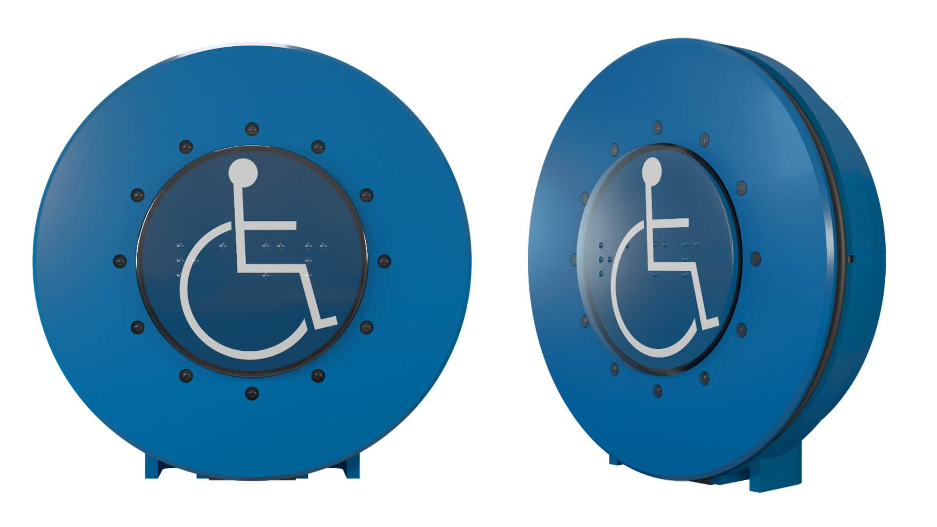 CK71-3 Taster TSL Rollstuhl blau