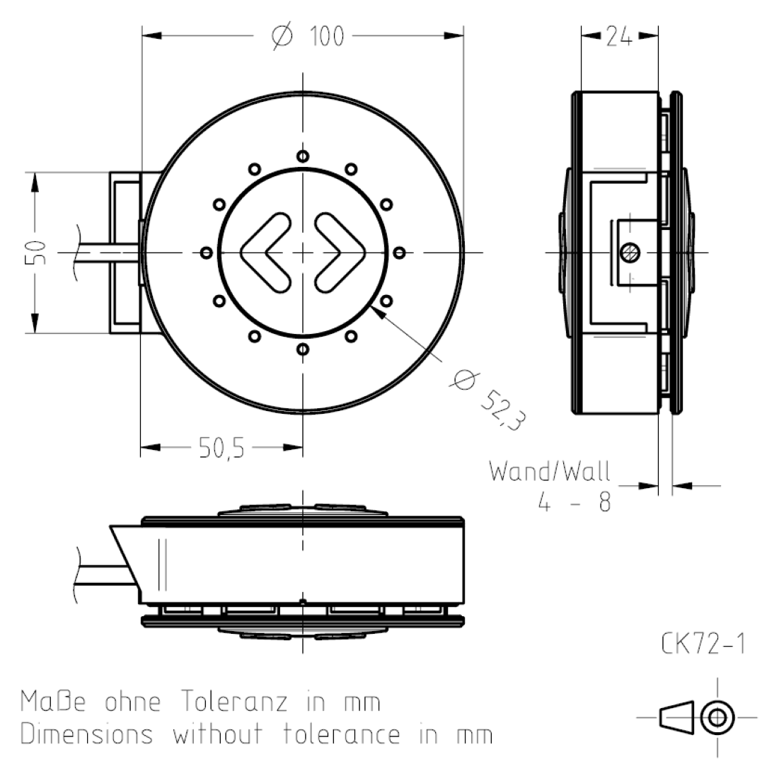 Masszeichnung CK72-1 TSL-ESCHA