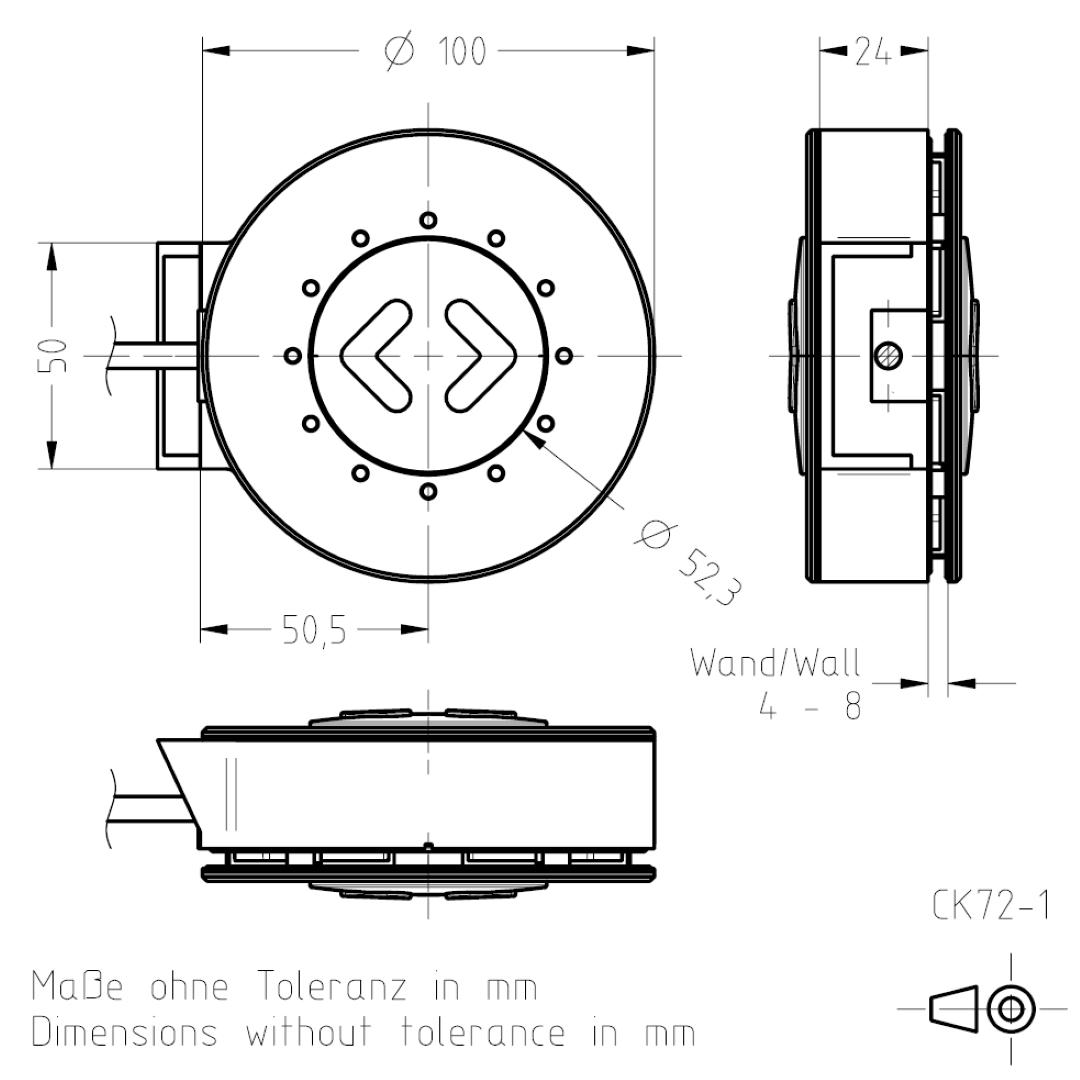 Masszeichnung CK72 TSL-ESCHA