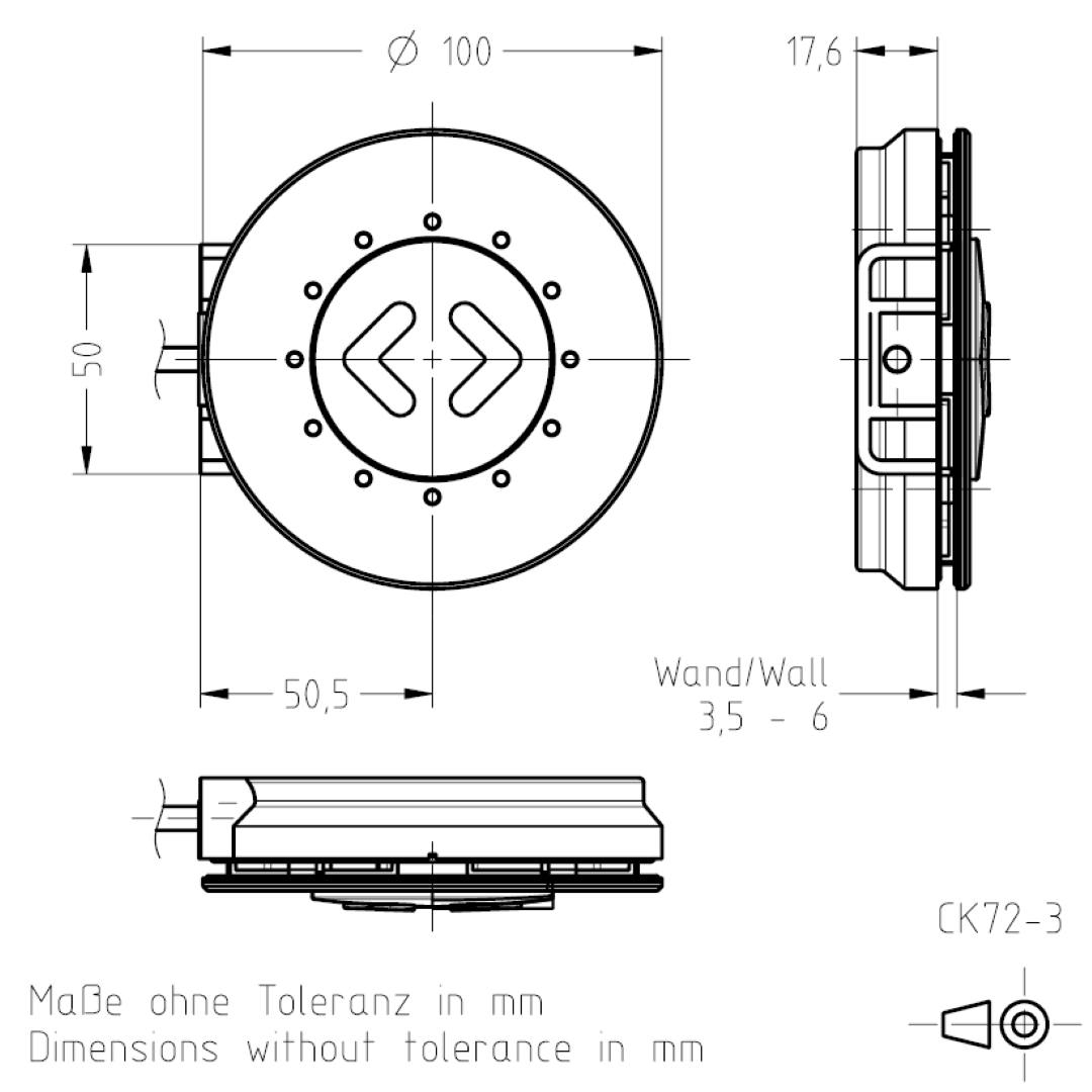 Masszeichnung CK72-3 TSL-ESCHA
