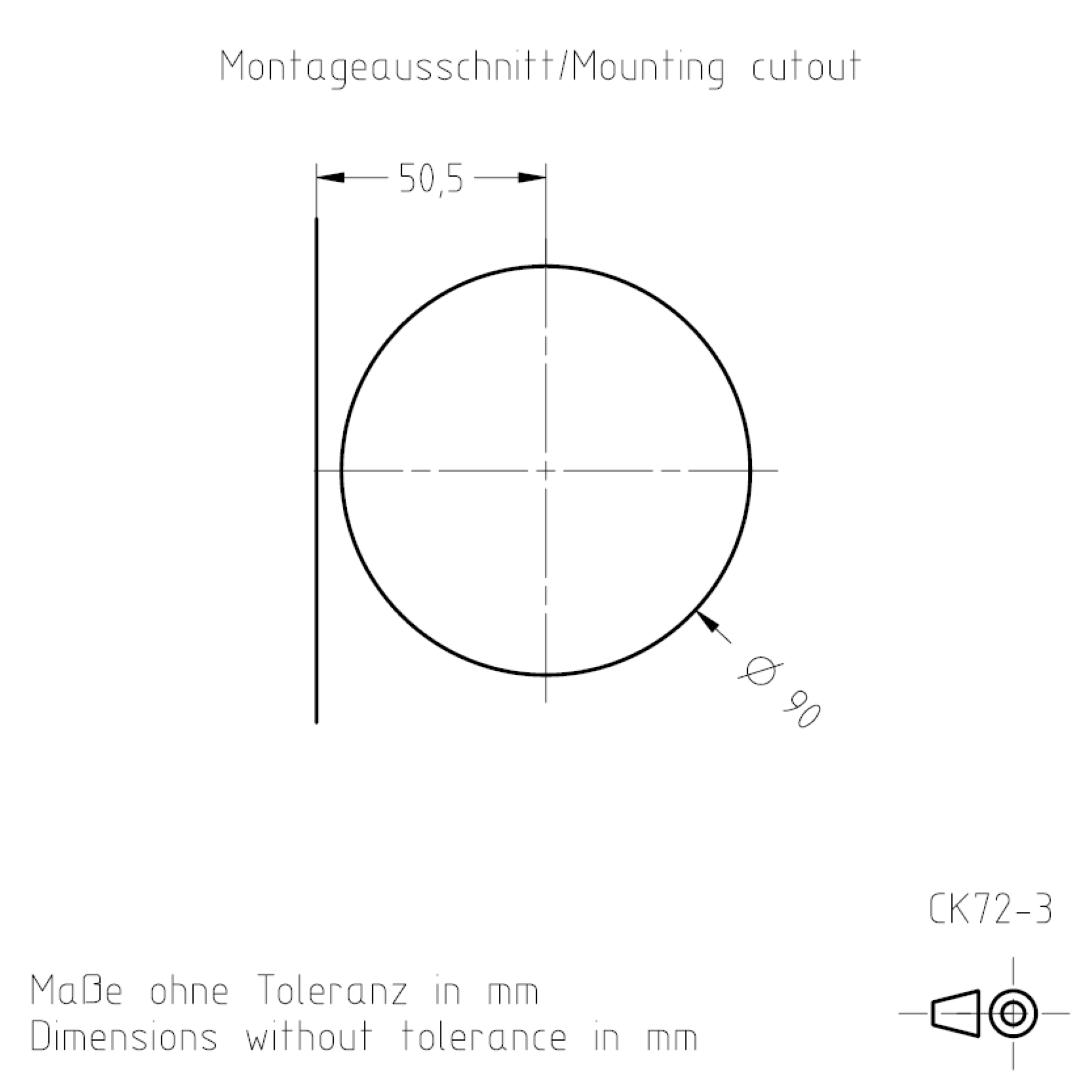 Montageausschnitt CK72-3 TSL-ESCHA