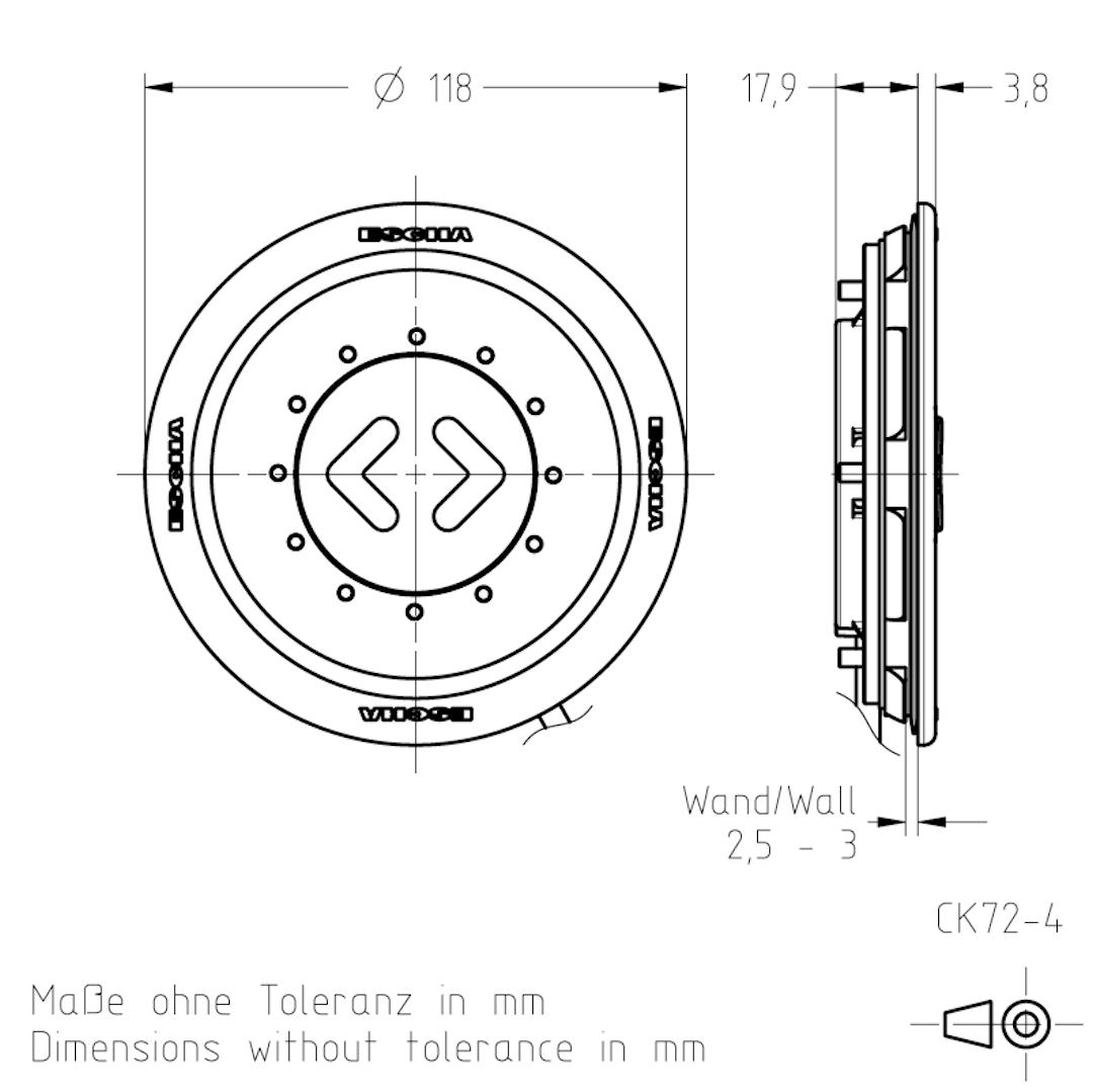 Masszeichnung CK72-4 TSL-ESCHA