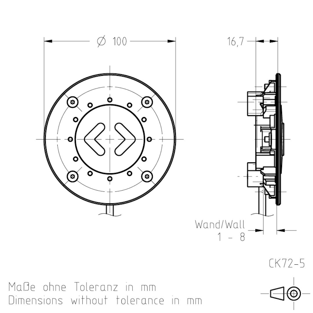 Masszeichnung CK72-5 TSL-ESCHA