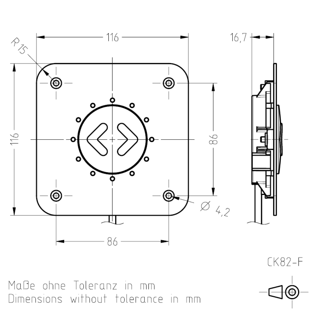 Masszeichnung CK82 TSL-ESCHA