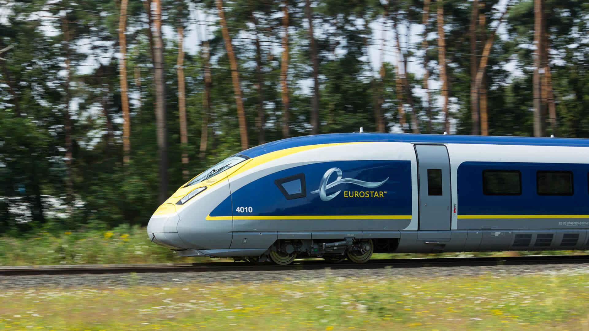 Eurostar 320 fahrend mit TSL-Tastern