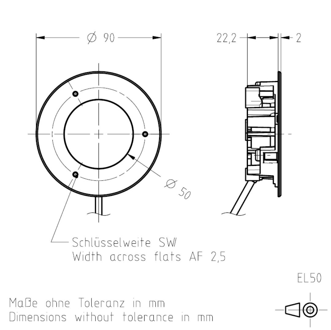 Masszeichnung EL50 TSL-ESCHA