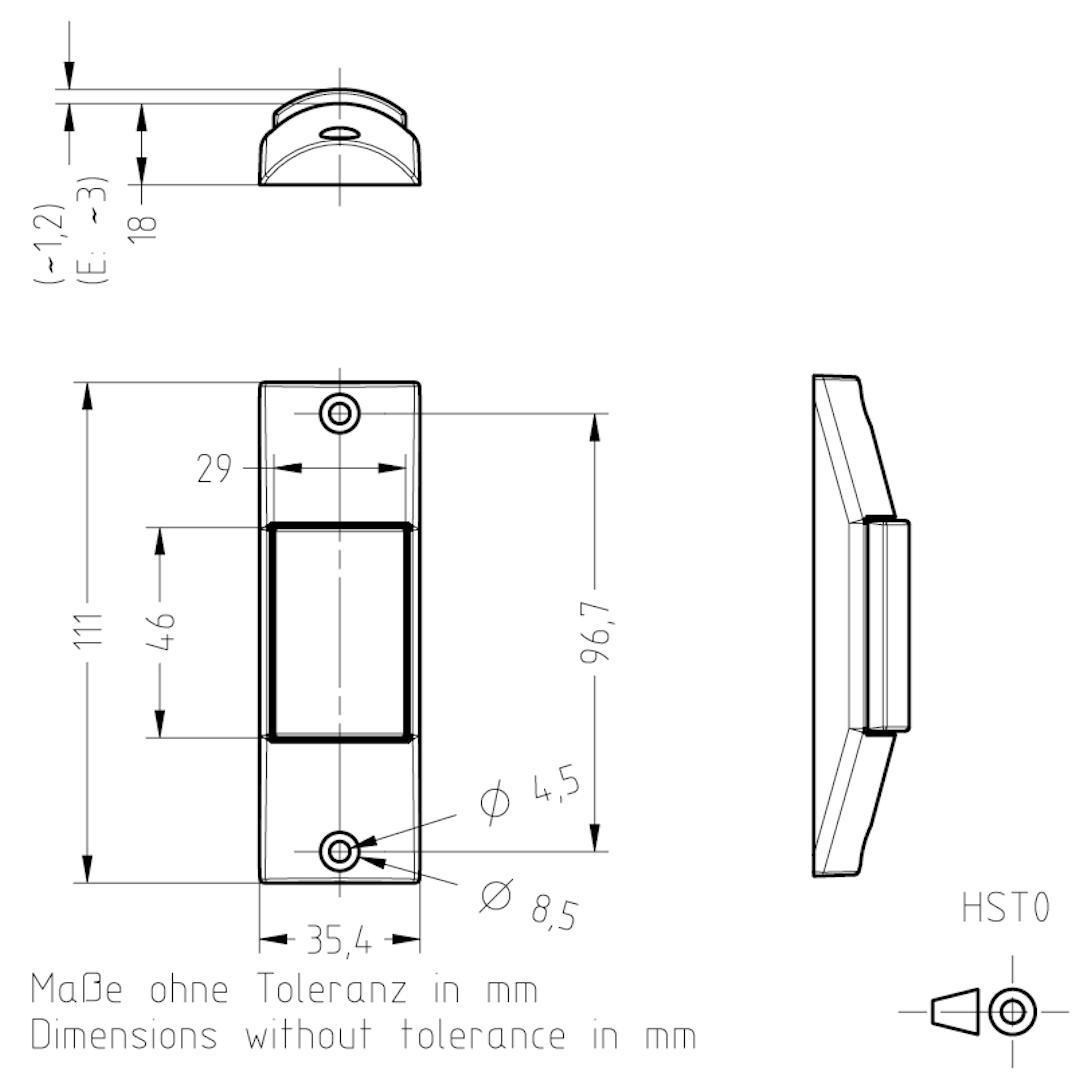 Masszeichnung HST0 TSL-ESCHA