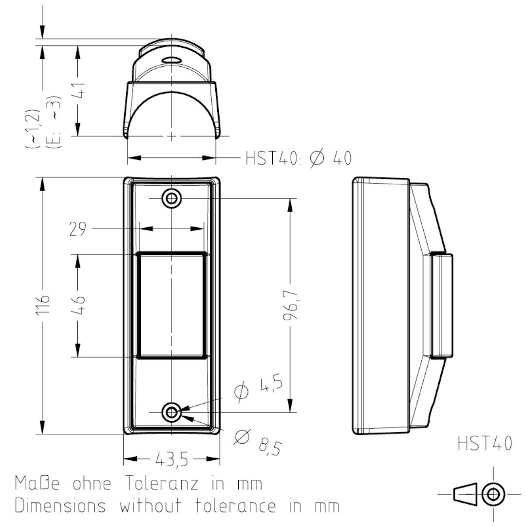 Masszeichnung HST40 TSL-ESCHA