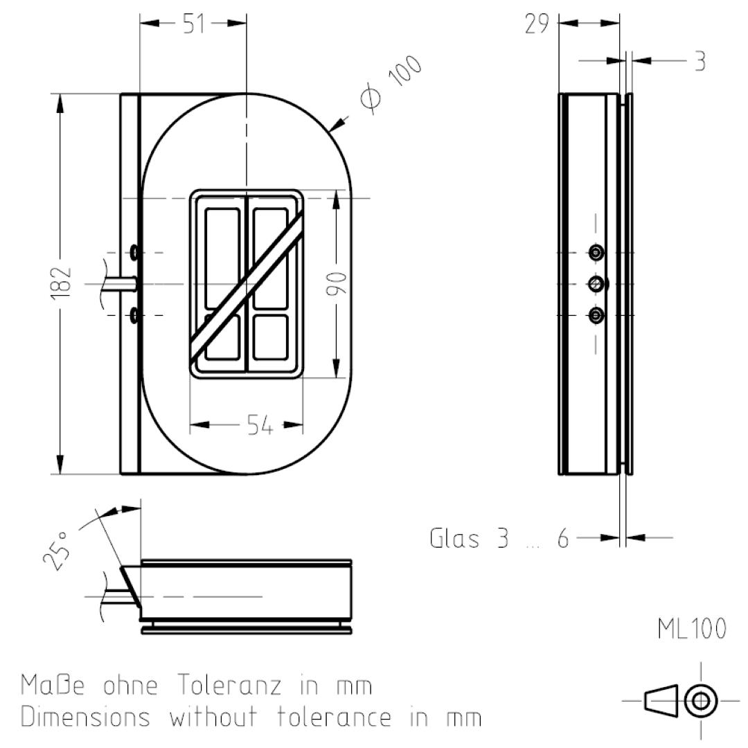 Masszeichnung ML100 TSL-ESCHA