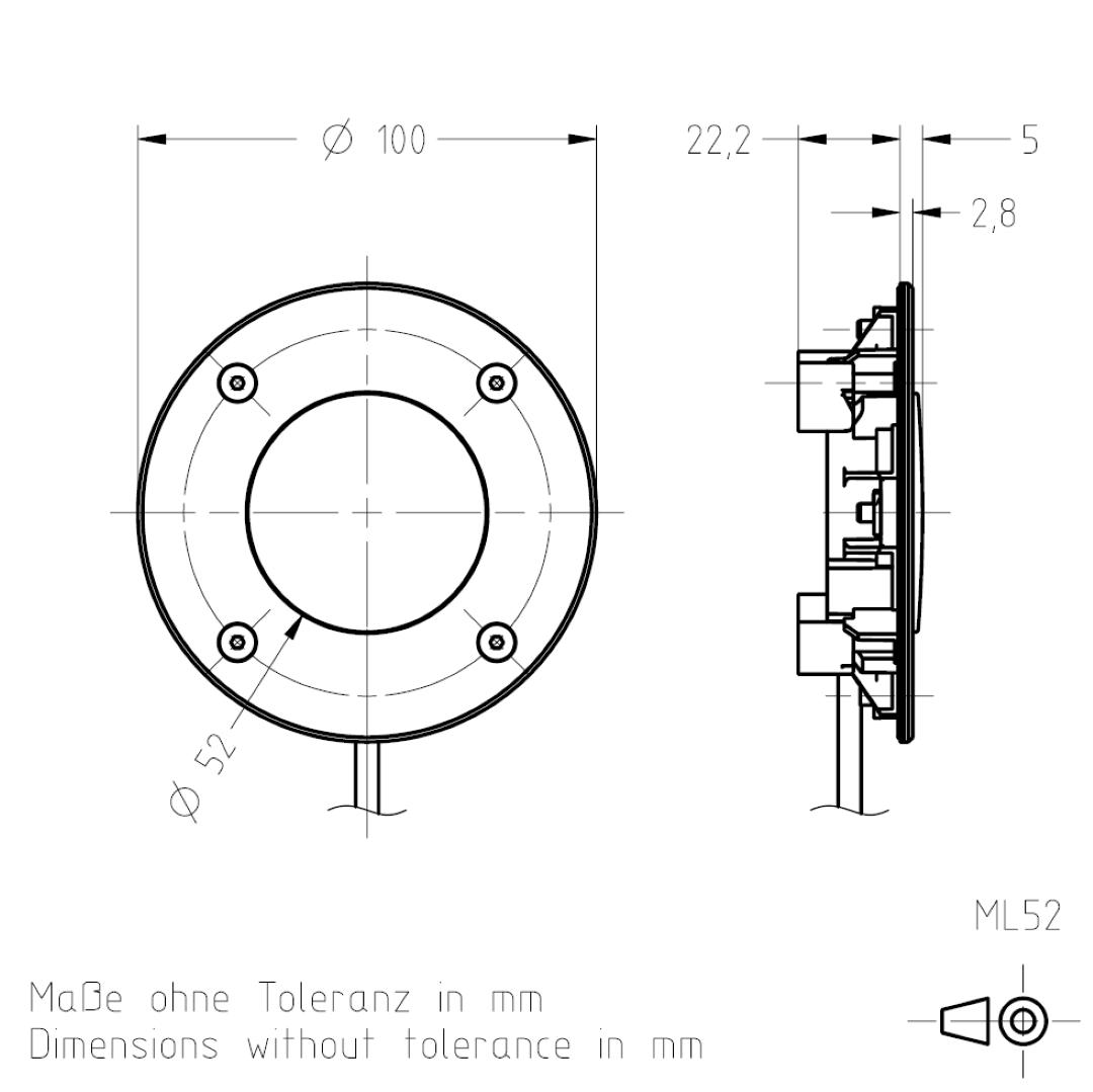 Masszeichnung ML52 TSL-ESCHA