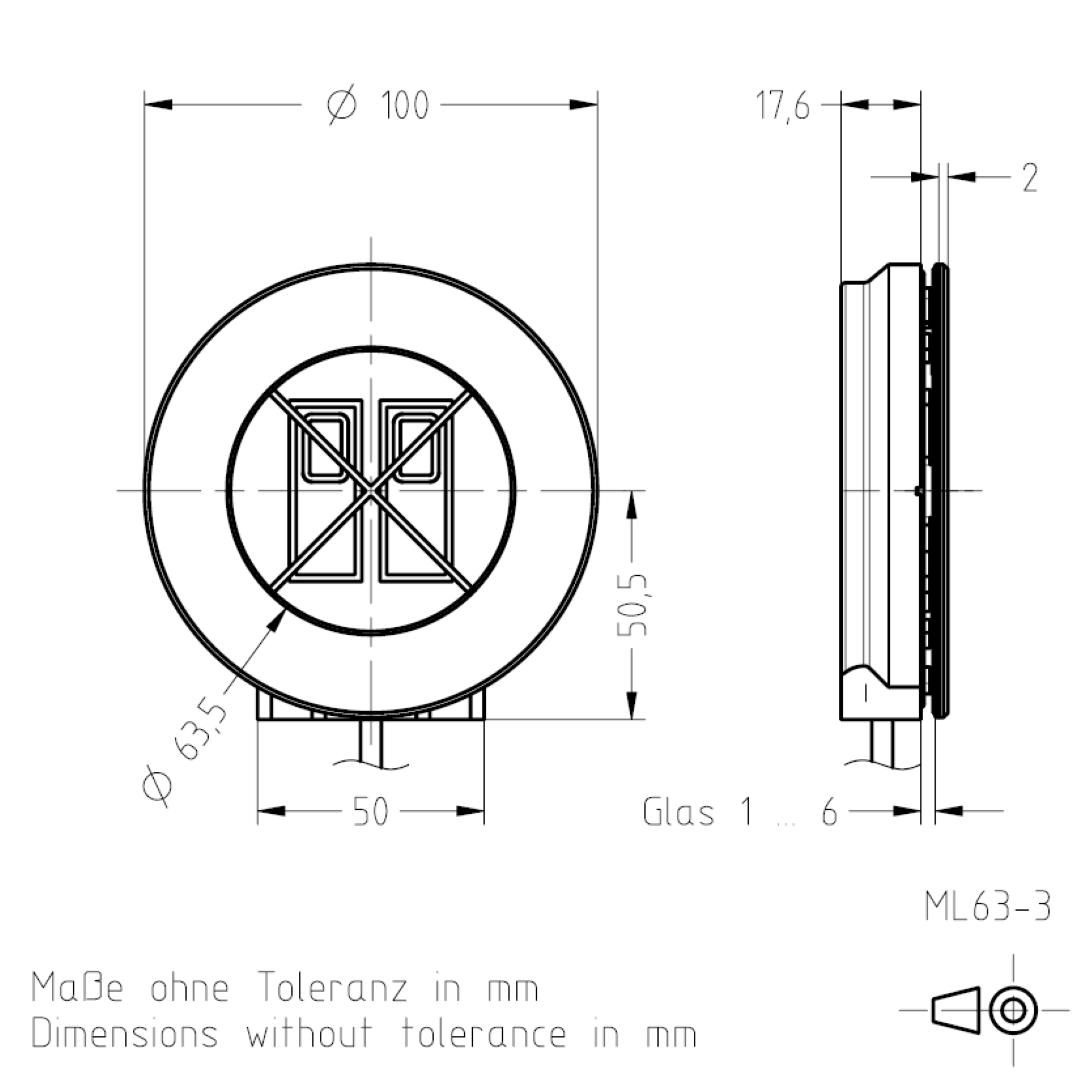 Masszeichnung ML63 TSL-ESCHA