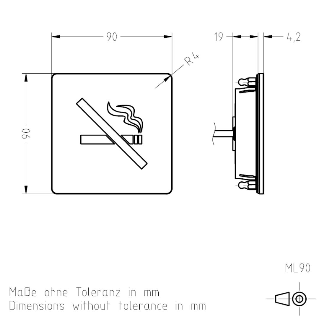 Masszeichnung ML90 TSL-ESCHA