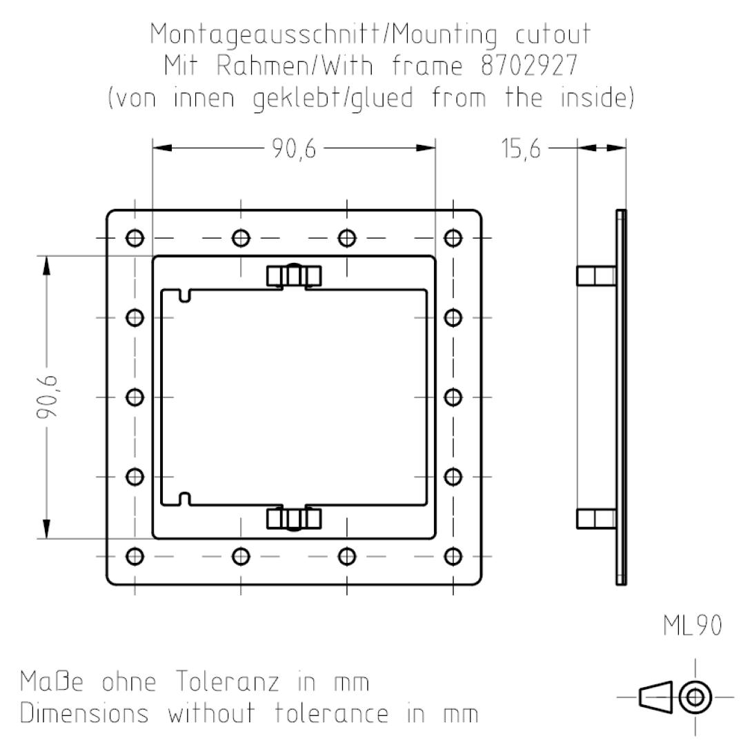 Montageausschnitt ML90 TSL-ESCHA