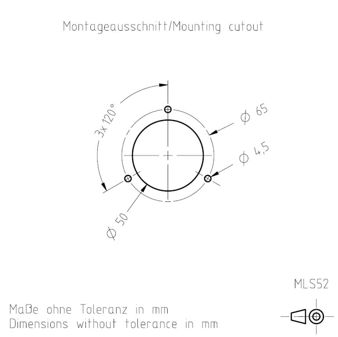 Montageausschnitt MLS52 TSL-ESCHA