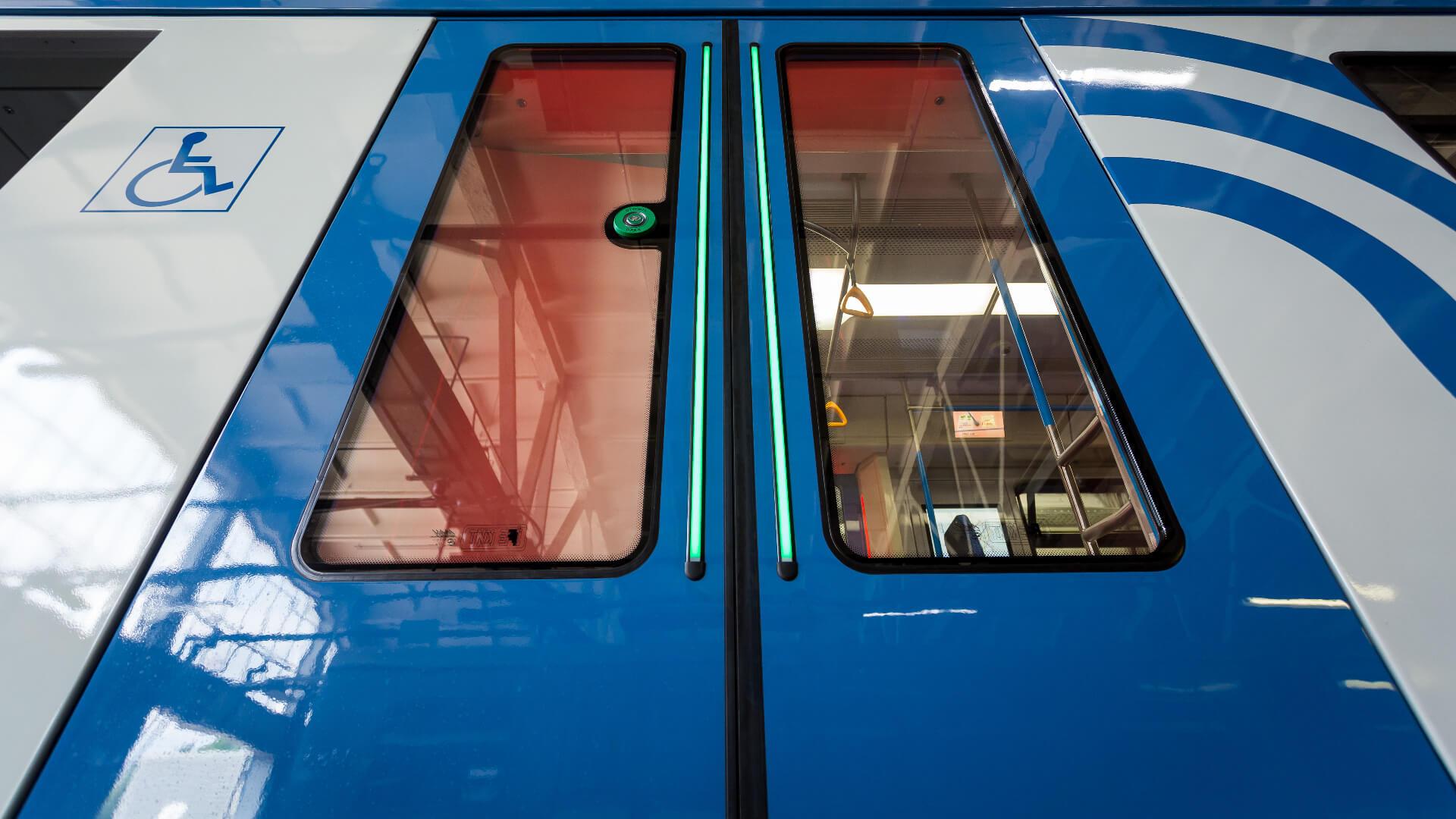 Metro Moskau PK-Taster LS-Leuchtstreifen TSL
