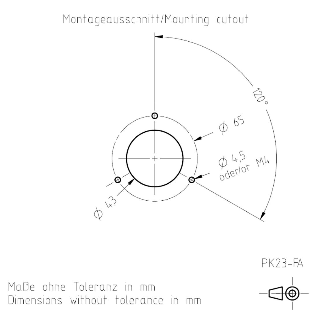 Montageausschnitt PK23 TSL-ESCHA