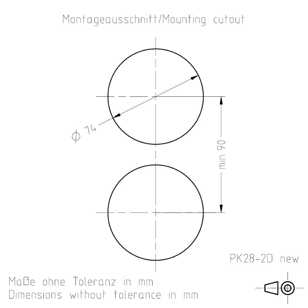 Montageausschnitt PK28-2 TSL-ESCHA