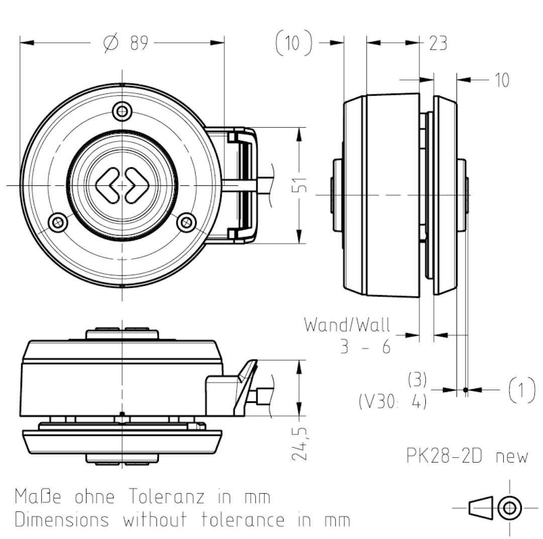 Masszeichnung PK28-2 TSL-ESCHA