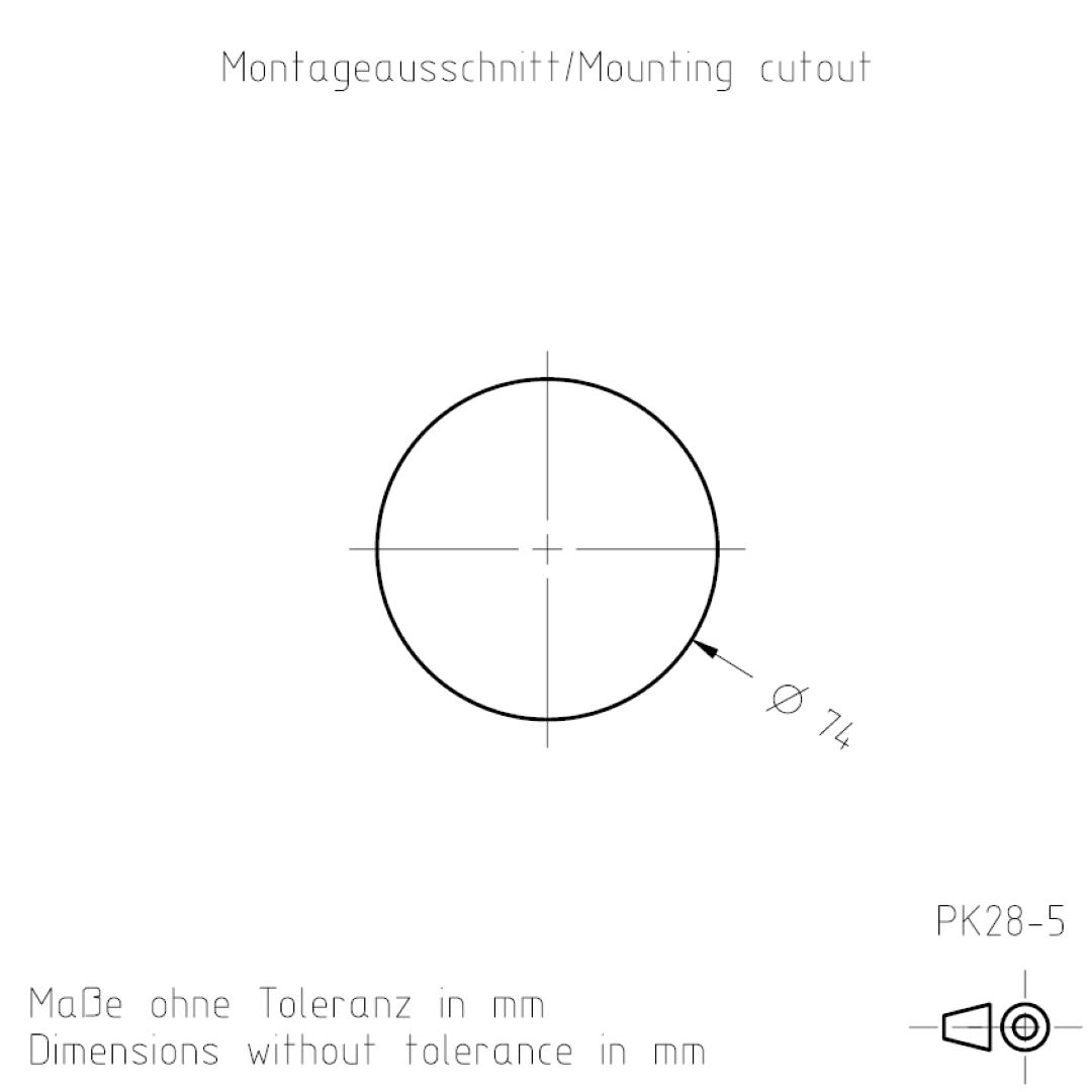 Montageausschnitt PK28-5 TSL-ESCHA