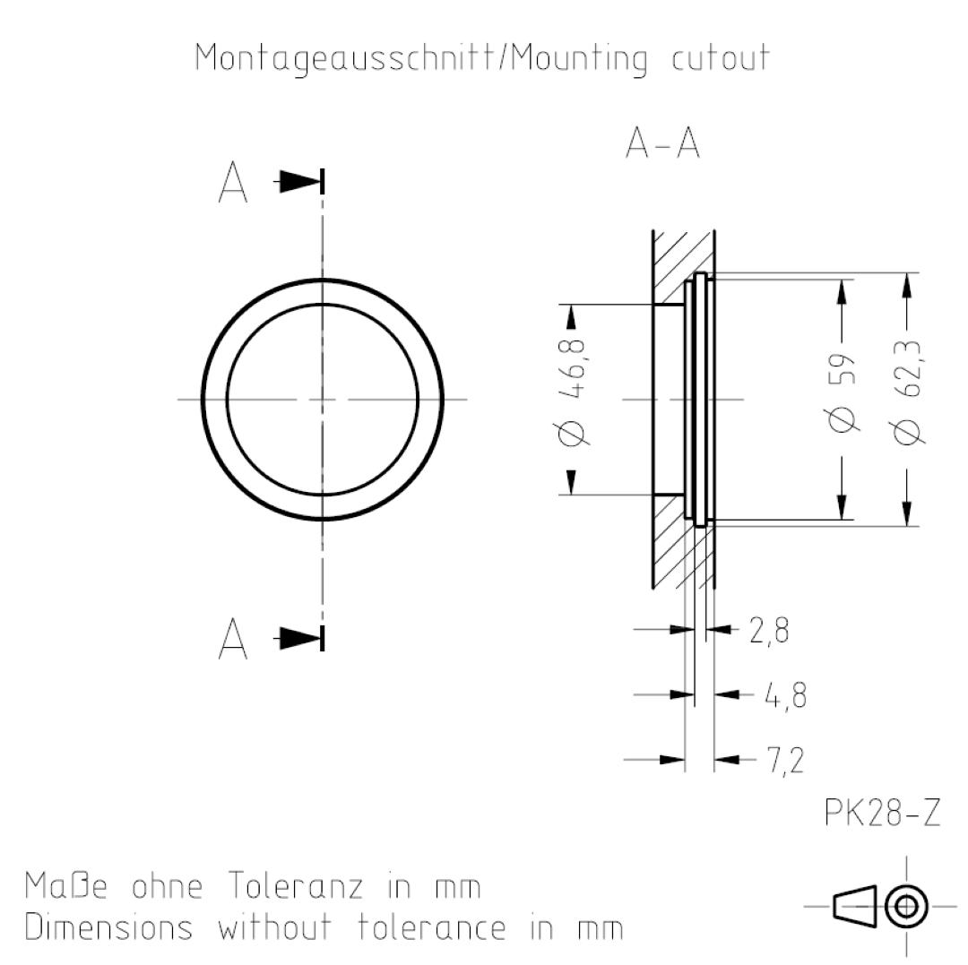 Montageausschnitt PKZ TSL-ESCHA
