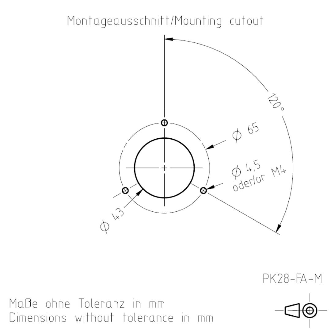 Montageausschnitt PK28FA TSL-ESCHA