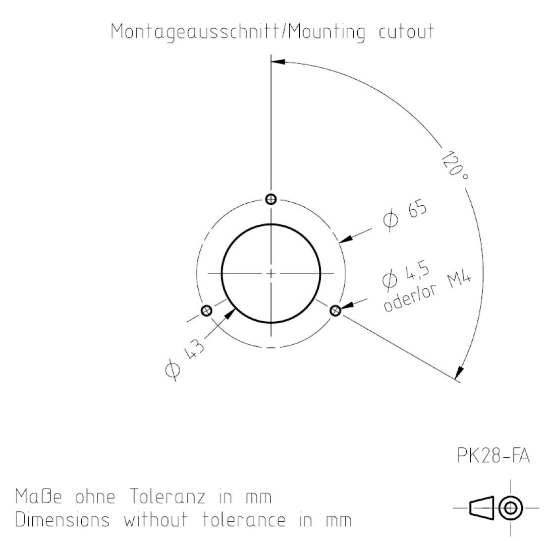 Montageausschnitt PK28-FA TSL-ESCHA