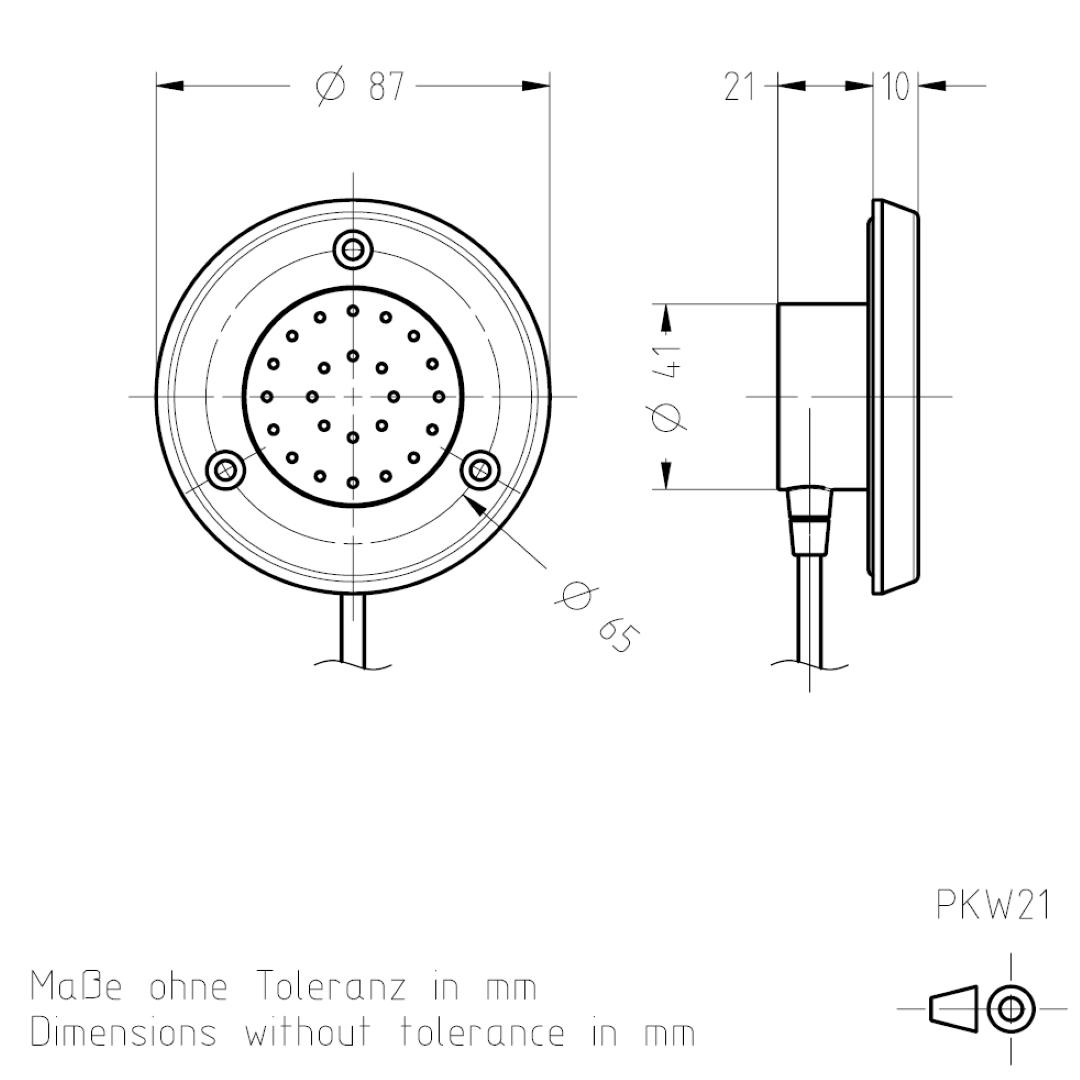 Masszeichnung PKW21 TSL-ESCHA
