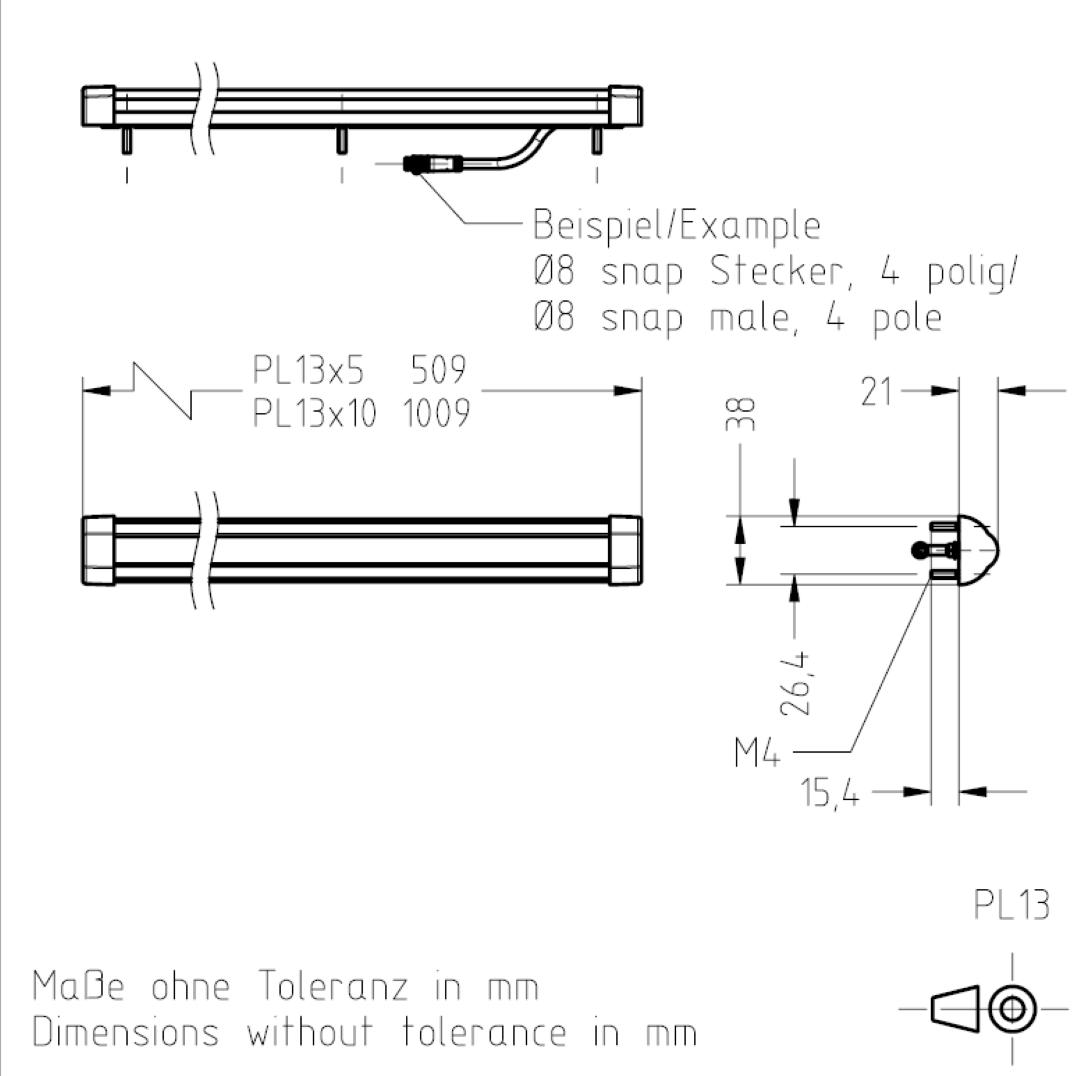 Masszeichnung PL13 TSL-ESCHA