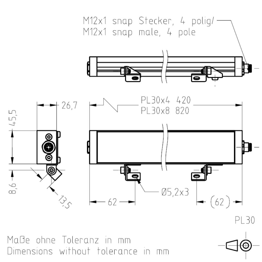 Masszeichnung PL30 TSL-ESCHA