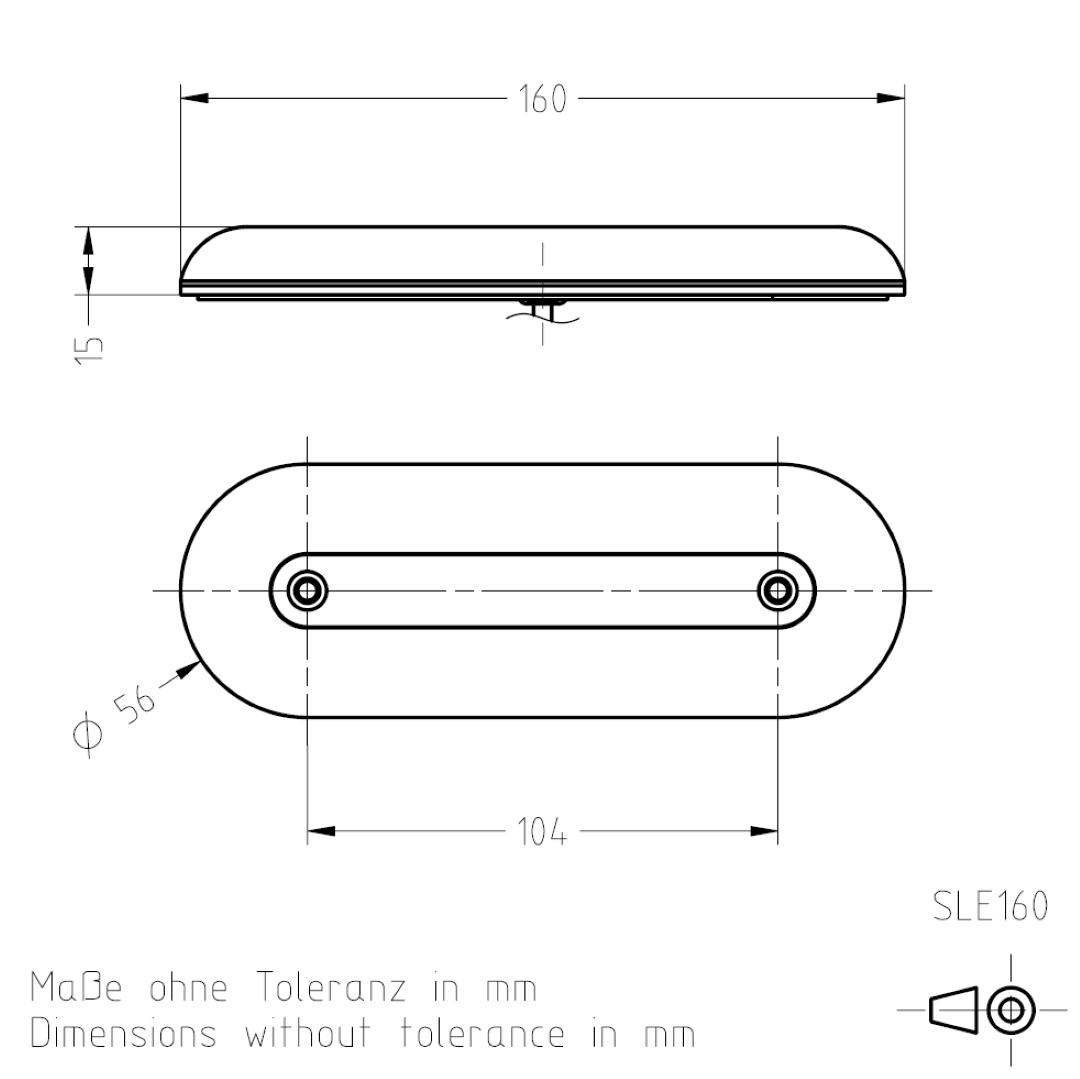 Maßzeichnung Signalleuchte SLE160 TSL-ESCHA