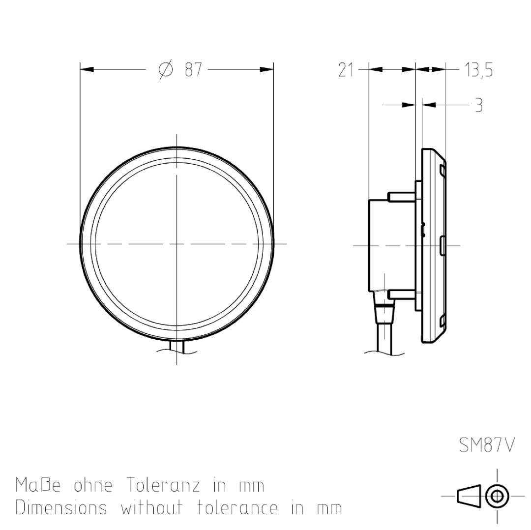 Masszeichnung SM87V TSL-ESCHA