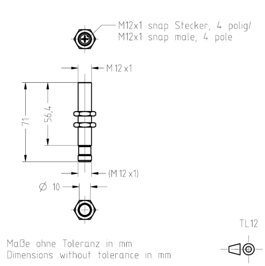 Masszeichnung TL12 TSL-ESCHA