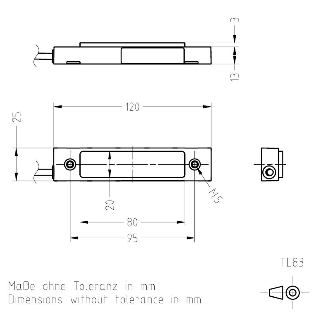 Masszeichnung TL83 TSL-ESCHA