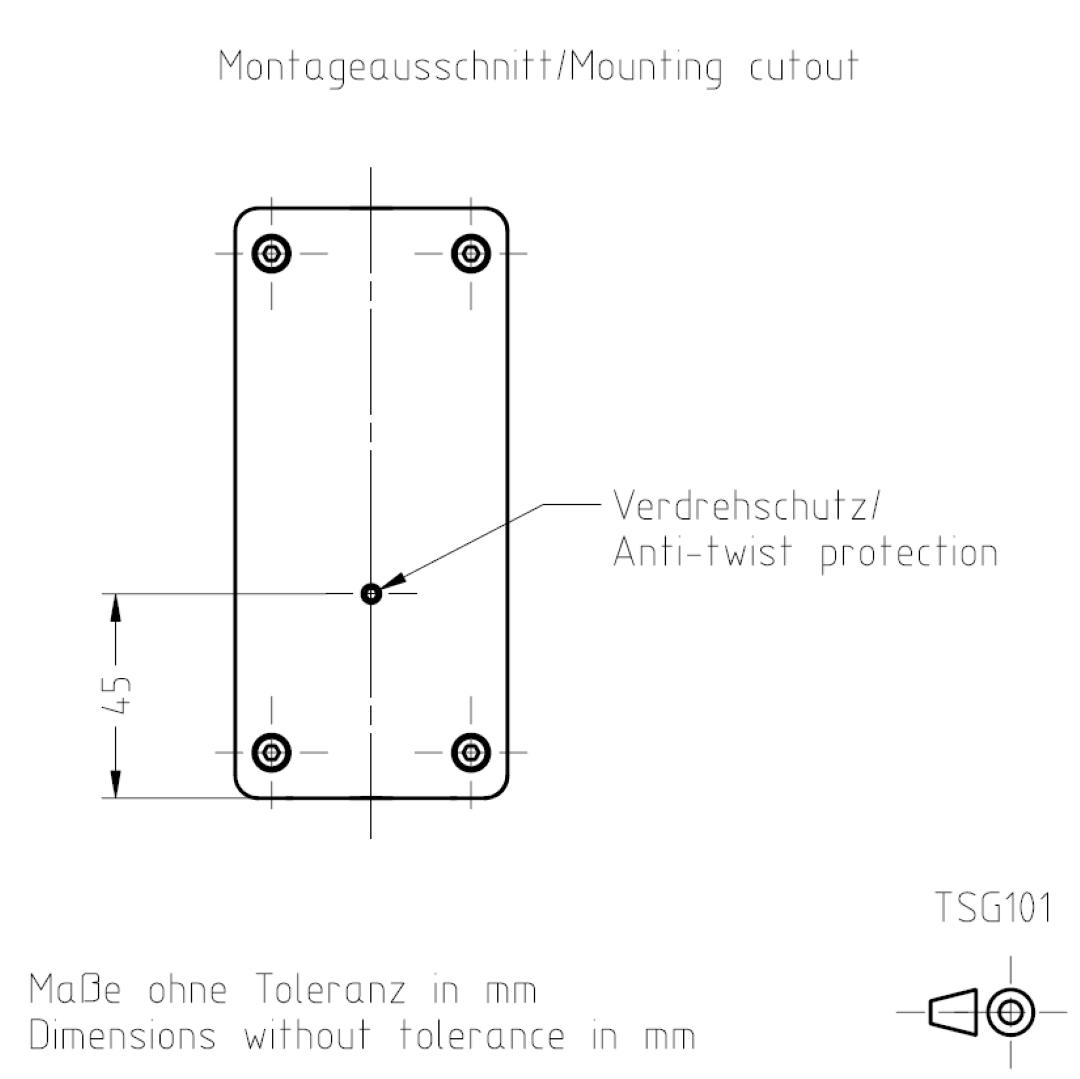 Montageausschnitt TSG101 TSL-ESCHA