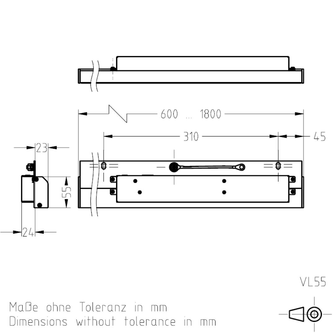Masszeichnung VL55 TSL-ESCHA