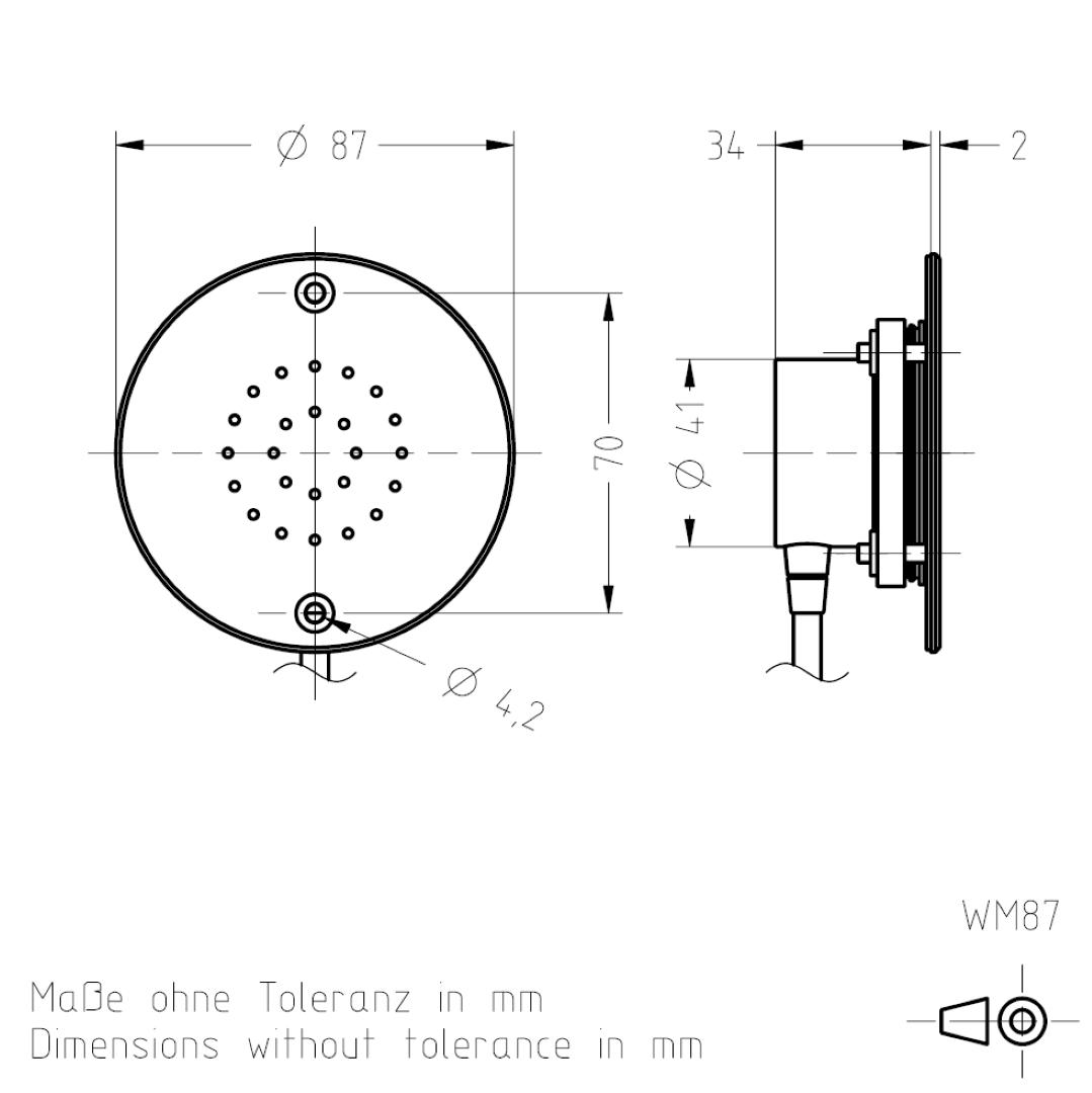 Masszeichnung WM87 TSL-ESCHA